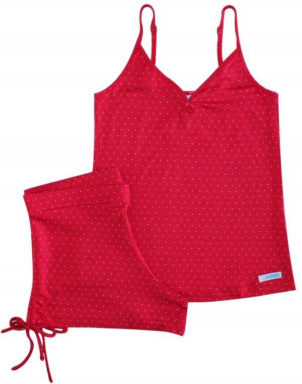 Pijama Feminino Vermelho Poá