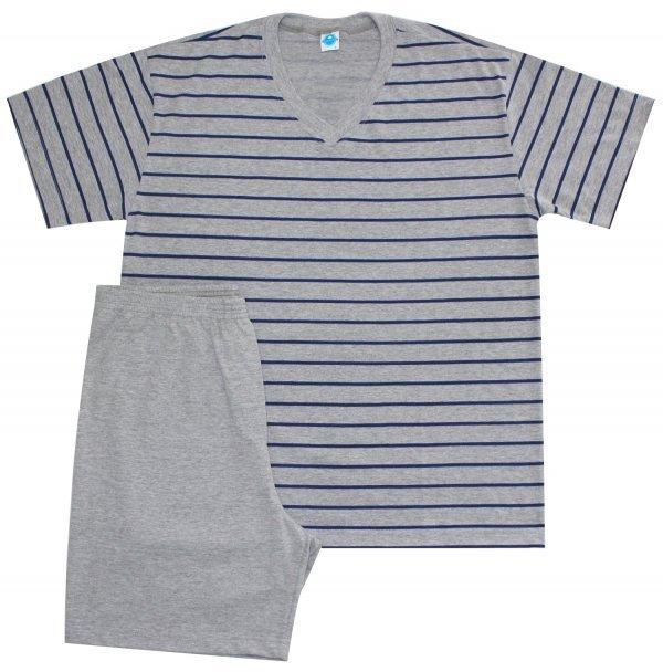 Pijama Masculino Marinho em Mescla