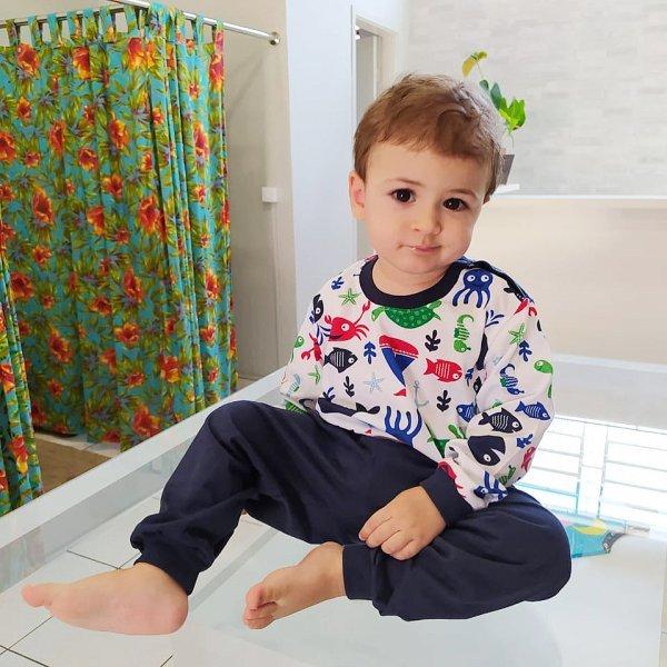 Pijama Masculino Vida Marinha