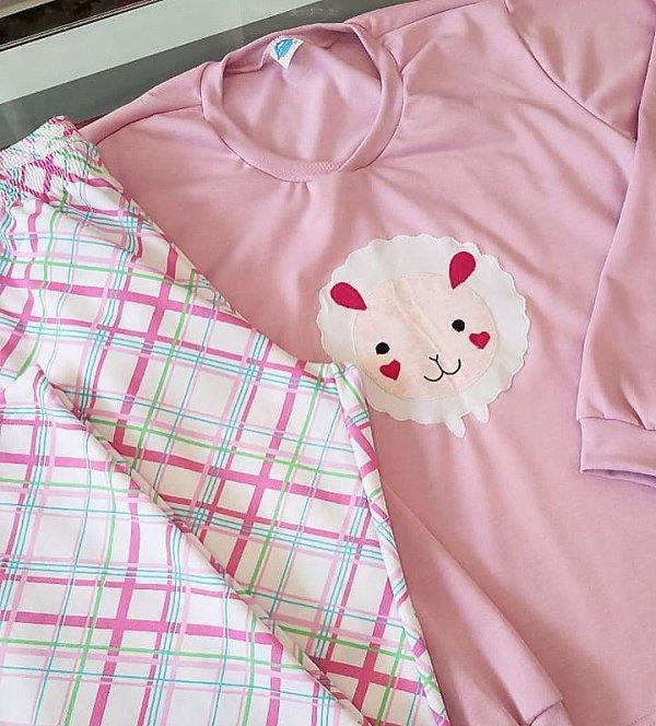 Pijama Flanela Feminino Ovelha
