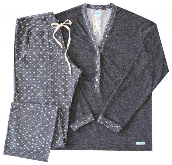 Pijama Feminino Laço Black