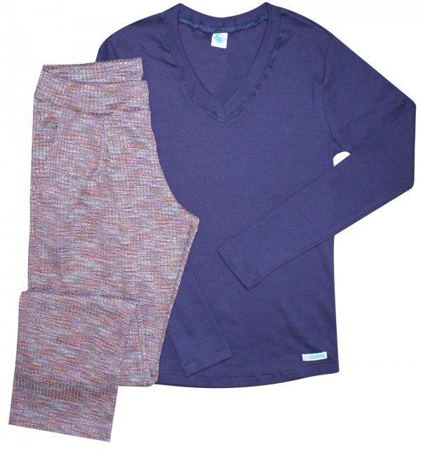 Pijama Canelado Furta Cor - Inverno - Tam P