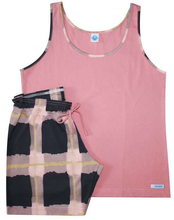 Pijama Xadrez Aquarela