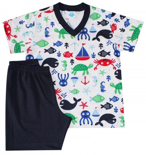 Pijama Verão Vida Marinha - Masculino