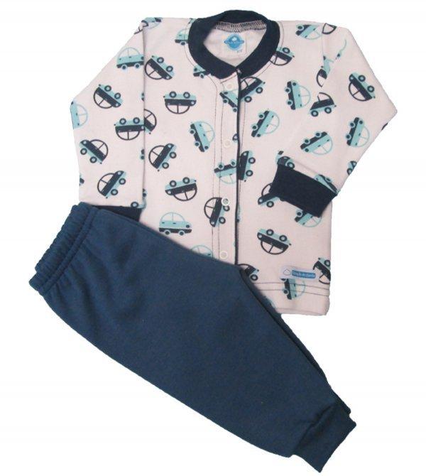 Pijama Carrinhos Suedine - Tam RN - 6 meses
