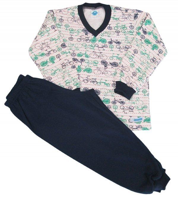 Pijama Bicicletinha Flanelada - Tam 1, 4, 6, 8