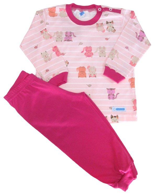 Pijama Gato Rosa - Tam 10