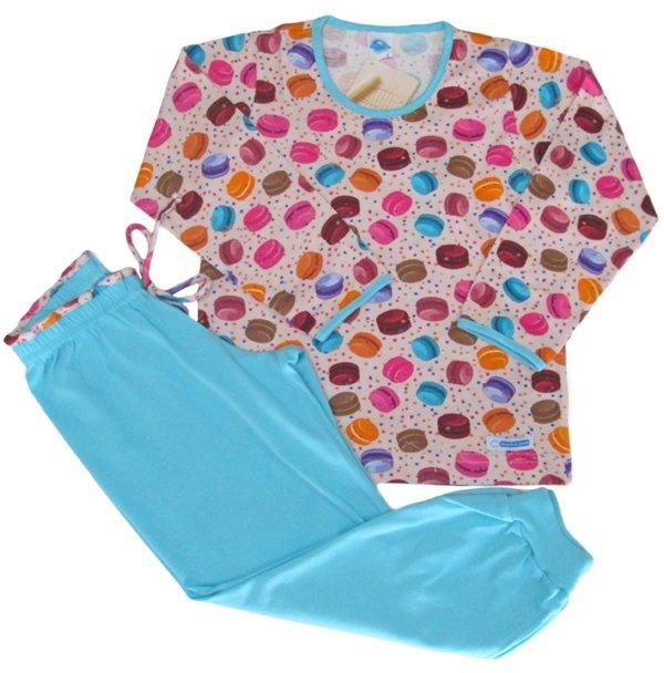 Pijama Feminino Macaron Azul - Tam 6m
