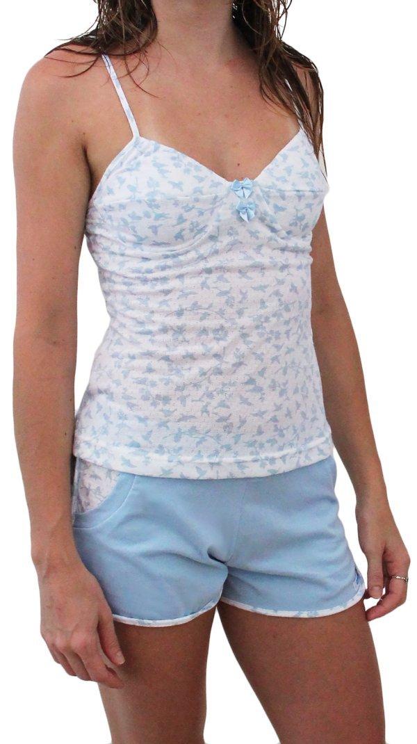 Pijama Passarinhos Azul