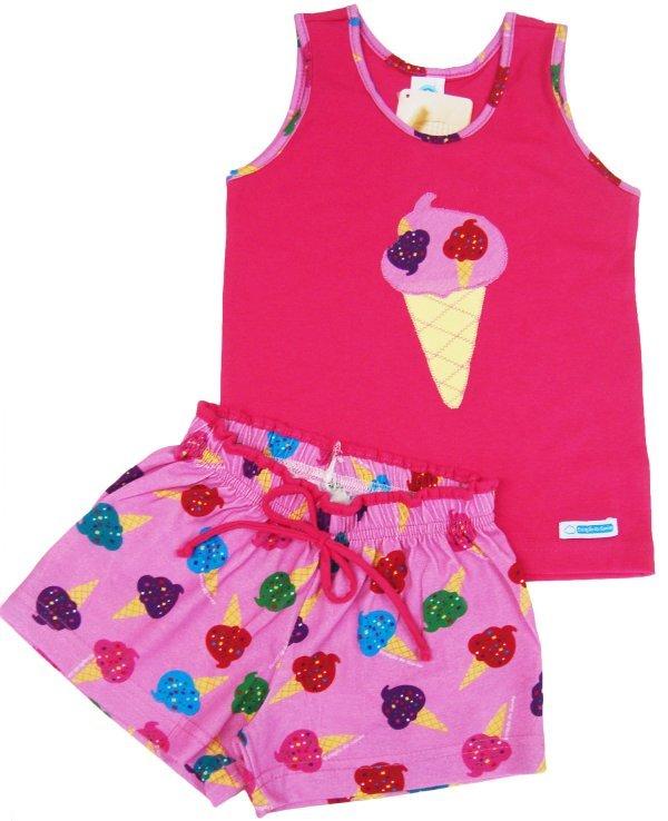 Pijama Sorvete Chiclete