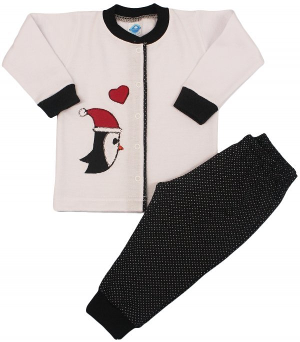 Pijama Flanelado Bebê Pinguim - Tam 6m