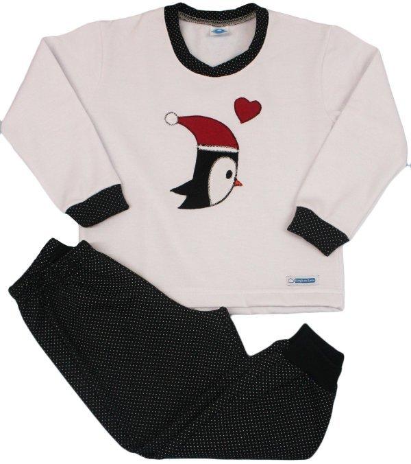 Pijama Feminino Flanelado Pinguim