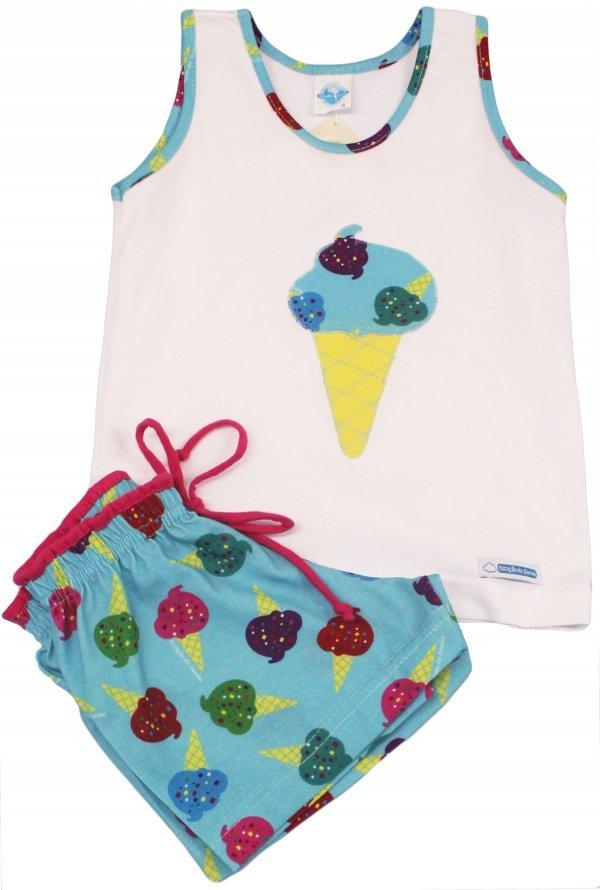 Pijama Sorvete Turquesa