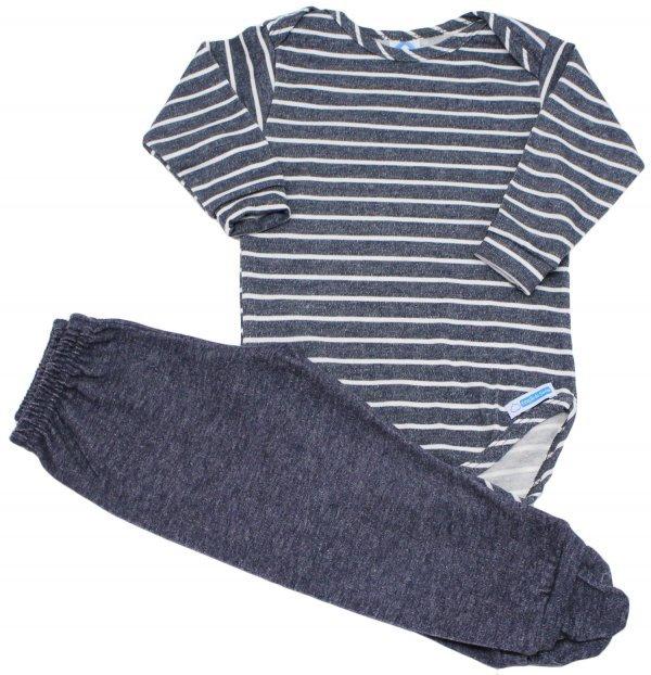 Conjunto body + calça Listradinho