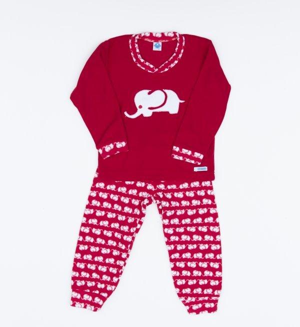 Pijama Feminino Elefante - Microsoft - Tam 10, 12, 14