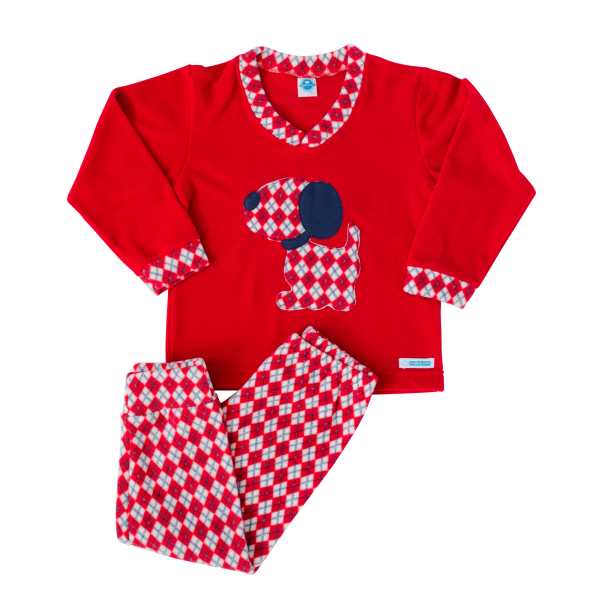 Pijama Losango Cachorro - Microsoft