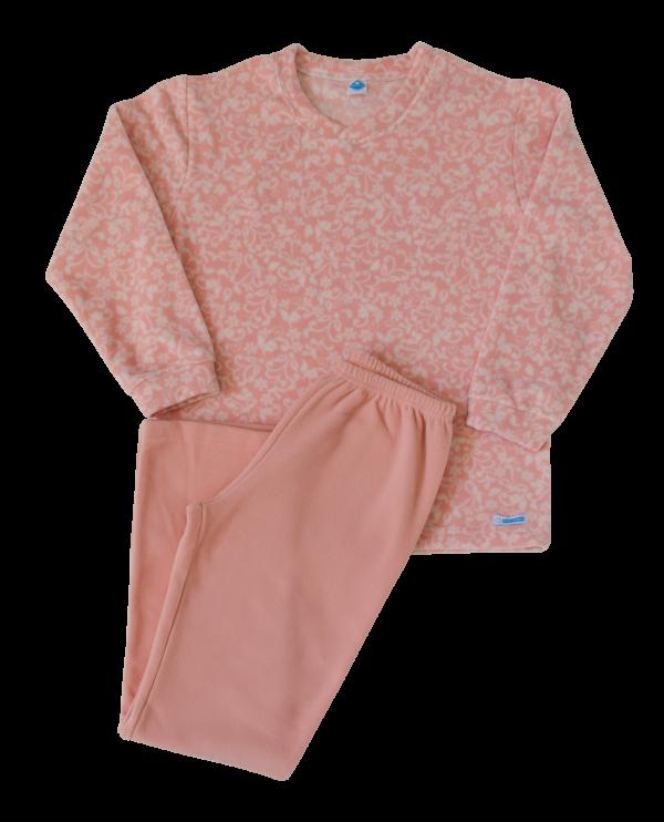 Pijama Floral Rosê - Microsoft