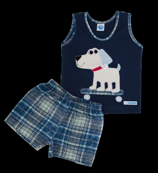 Pijama Feminino Xadrez - Infantil