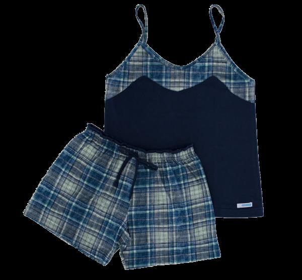 Pijama Feminino Xadrez - Tam G, GG