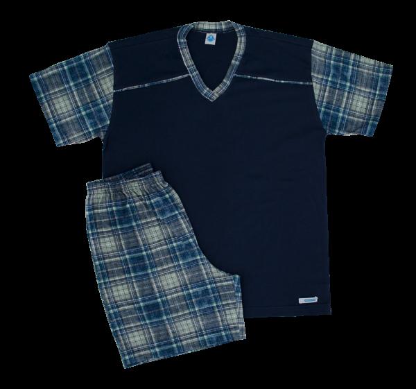 Pijama Masculino Xadrez - Tam 10, 12, 14 e 16