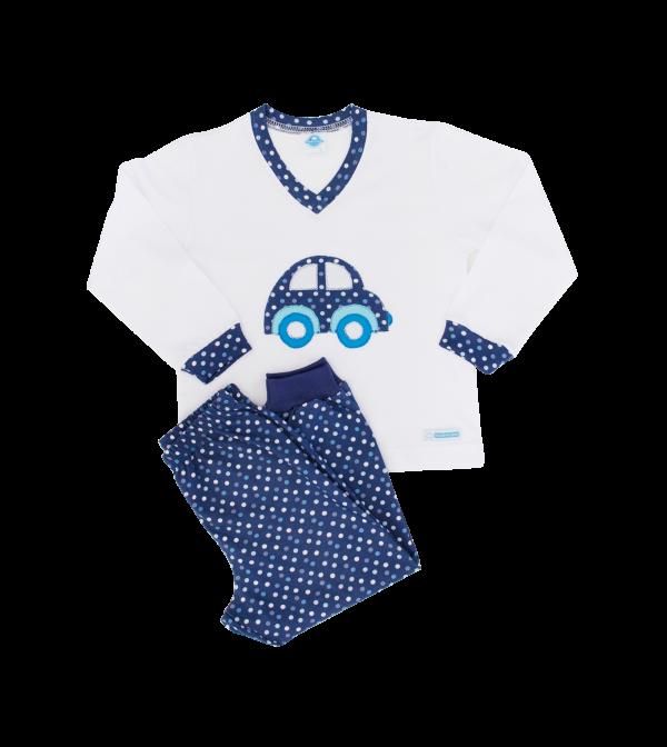 Pijama Masculino Poá Denim - Inverno - Tam 2 e 12