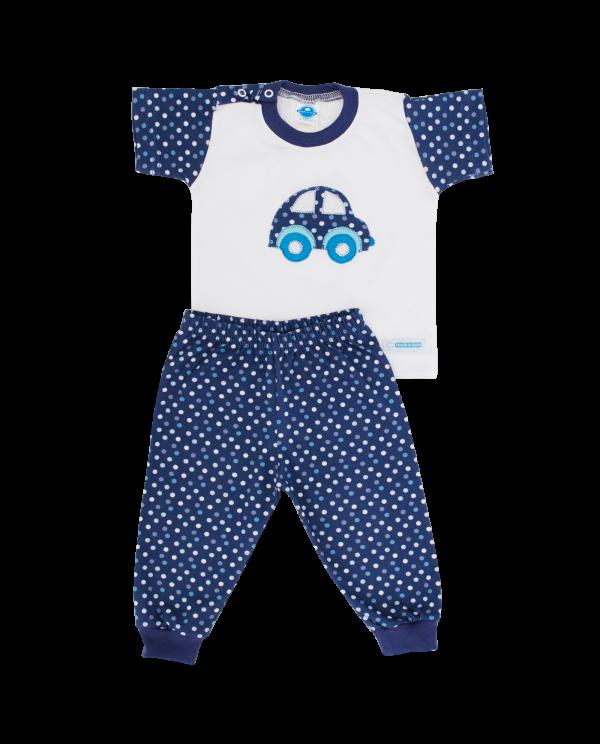 Pijama Masculino Poá Denim - Tam 6