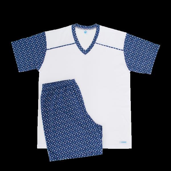 Pijama Masculino Poá Denim - Tam 12