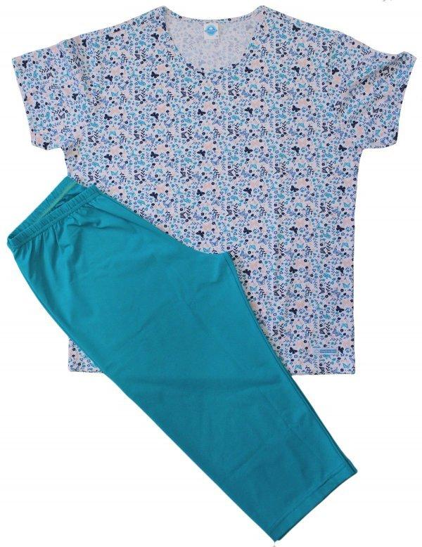 Pijama Feminino Borboleta Azul - Corsário  - Tam G - GG