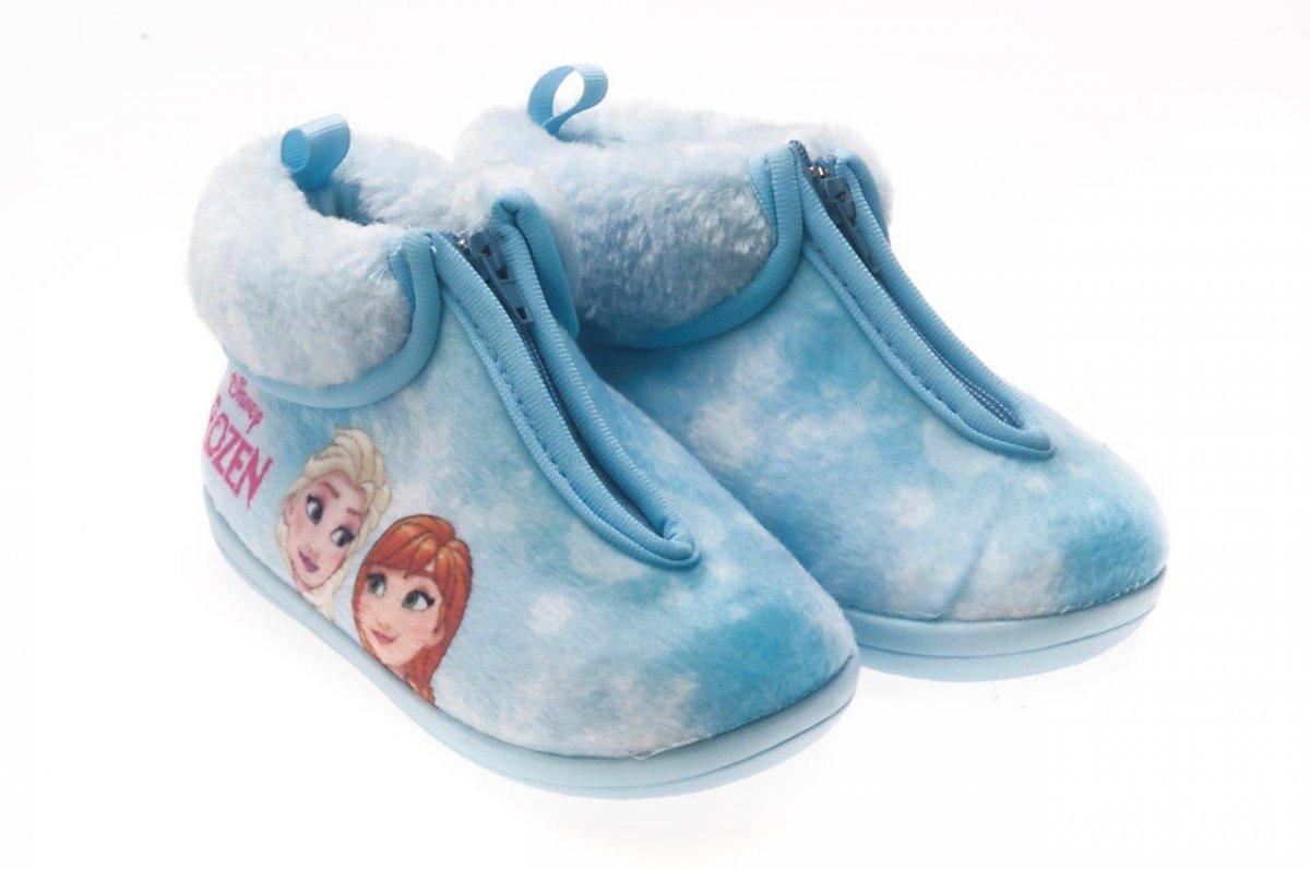 Pantufa Bota Infantil Frozen Azul Ziper 27/28 - Ricsen 215