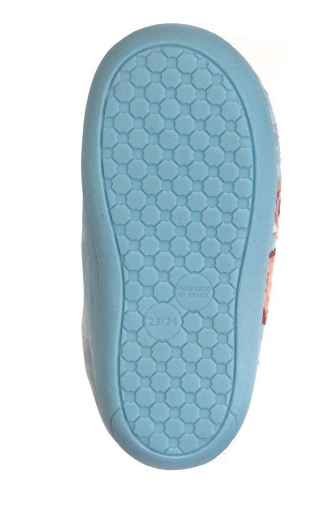 Pantufa Bota Infantil Frozen Azul Ziper 23/24 - Ricsen 213