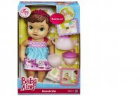 BONECA BABY ALIVE HORA DO CHÁ MORENA - HASBRO A9289