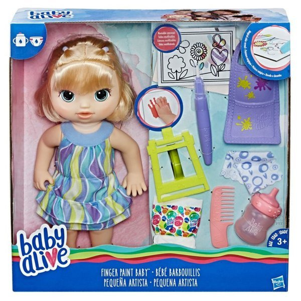 Boneca Baby Alive Pequena Artista Loira - Hasbro Ref:c0960