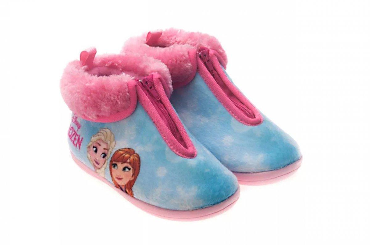 Pantufa Bota Infantil Frozen Rosa Ziper 21/22 - Ricsen 216