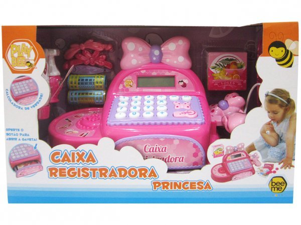 CAIXA REGISTRADORA PRINCESA - BEE ME TOYS 2707