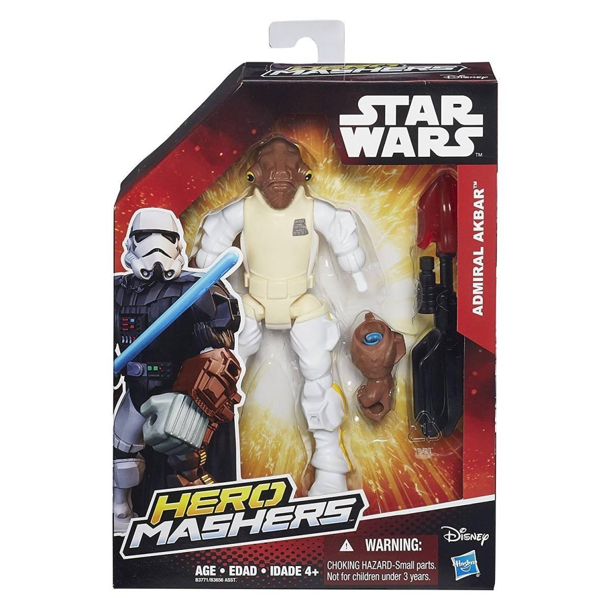 Boneco Admiral Akbar Hero Mashers Star Wars - Hasbro B3771