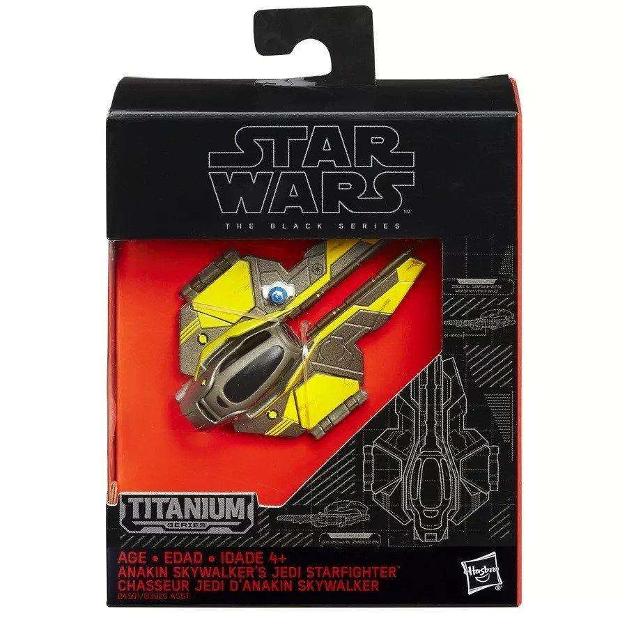 Nave Star Wars Jedi Star Fighter Anakin Titanium Series - Hasbro B4591