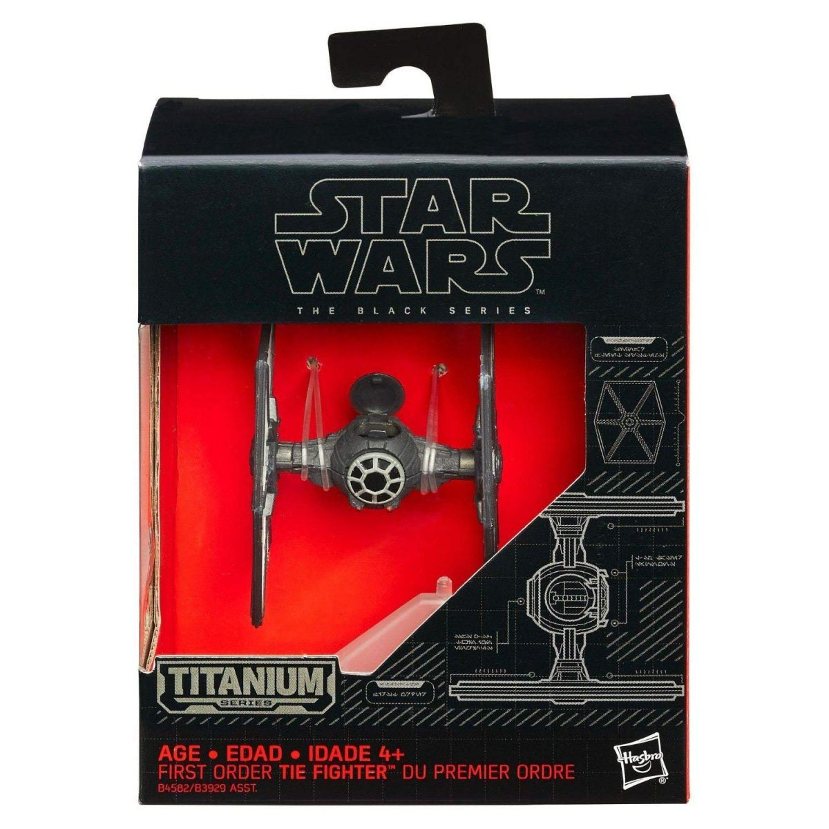Nave Star Wars First Order Tie Fighter Titanium Series - Hasbro B4582