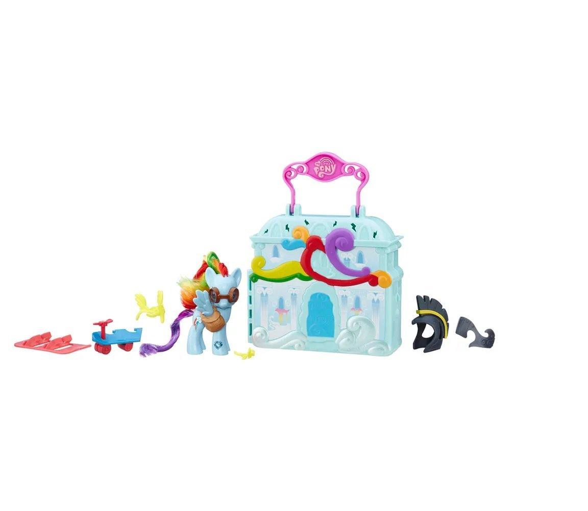 My Little Pony Hasbro Cenário Rainbow Dash Casa Nas Nuvens - Hasbro B8074