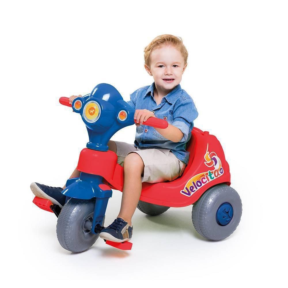 Triciclo Velocita Vermelho/azul - Calesita 958
