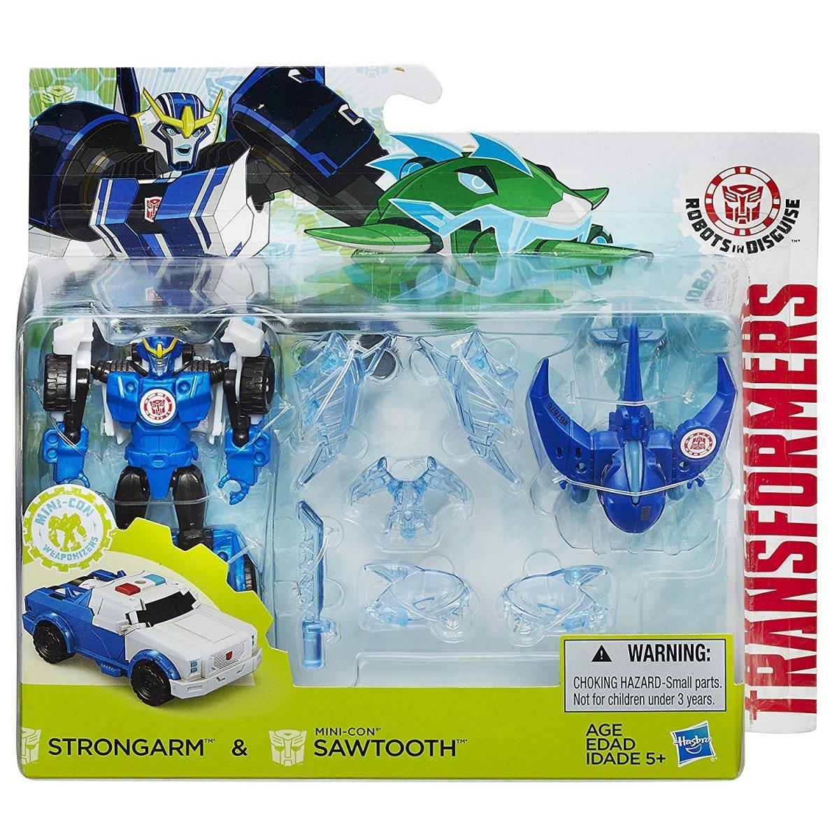 Transformers Robots In Disguise Strogarm & Sawtooth Hasbro B7676