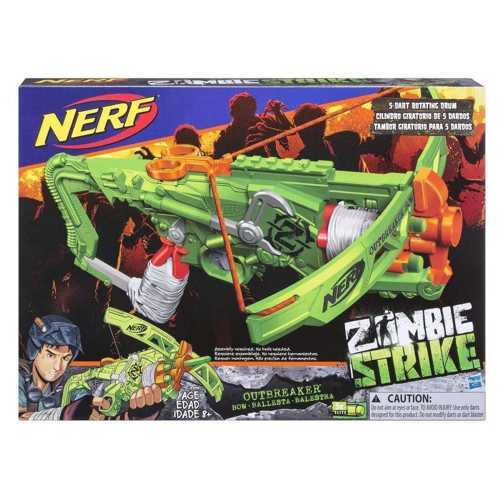 Lança Dardos Nerf Zombie Outbreaker Bow - Hasbro B9094