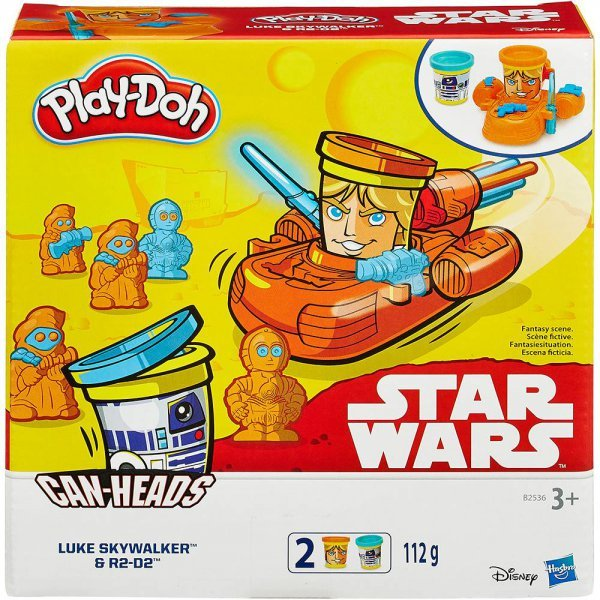 MASSINHA PLAY-DOH STAR WARS LUKE SKYWALKER E R2-D2 - HASBRO B2536