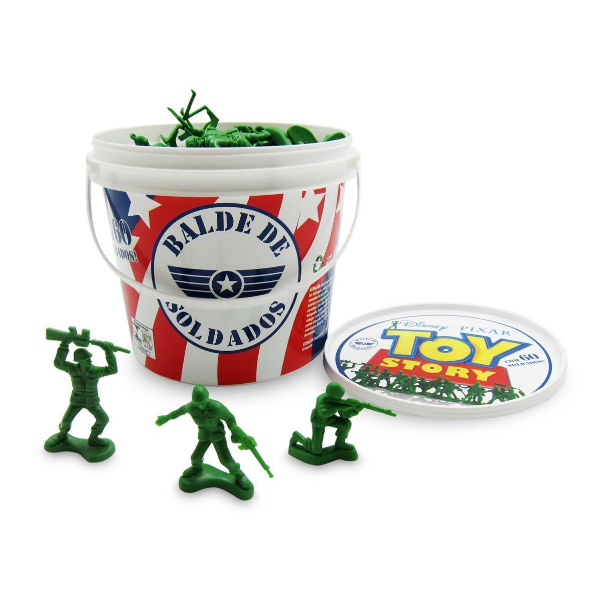 Balde Soldadinhos Toy Story - Toyng 026772