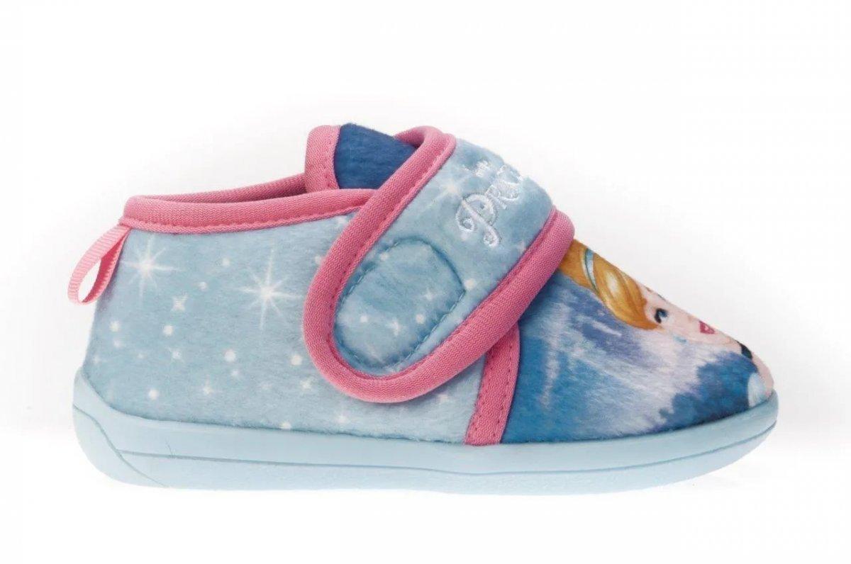 Pantufa Infantil Princesas Cinderela Azul 23/24 Ricsen 9456