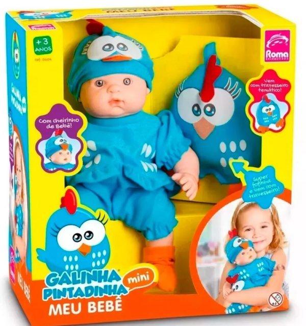 Boneca Meu Bebê Galinha Pintadinha Mini Baby - Roma 5604