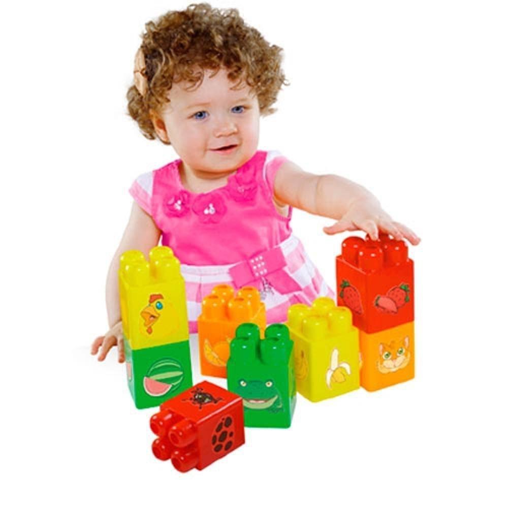 Blocos Para Montar Grande Baby Block 8 Peças - Dismat Mk294