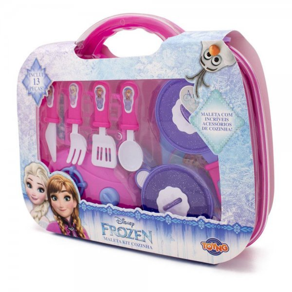 Kit De Cozinha Com Maleta Frozen - Toyng 32834