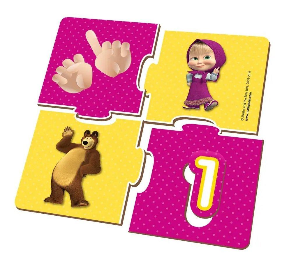 Jogo Aprender Numero Masha E O Urso Estrela Help Kids