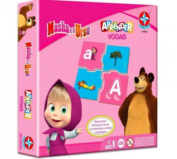 Jogo Aprender Vogais Masha E O Urso - Estrela 1300055