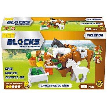 Cavalinhos Do Sítio 89 Peças - Bee Blocks 2565